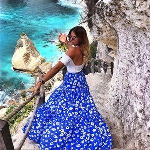 NWT Zara Floral Print Skirt